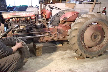 Unrestored Massey Ferguson 35, 23C engien