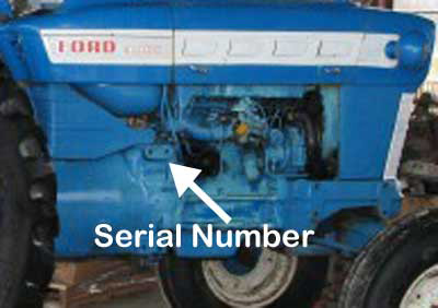 ford5000 engine ford 2000, 3000, 4000, 5000 serial numbers vintage tractor engineer Ford 4000 Gas Tractor Wiring Diagram at reclaimingppi.co