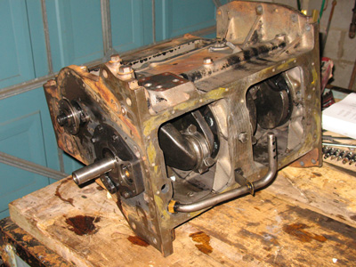 unrestored-mf35-engine