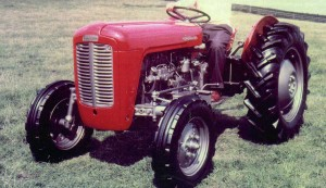 Red and grey Ferguson 35 tractor