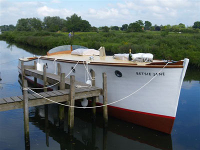 Restored motor cruiser