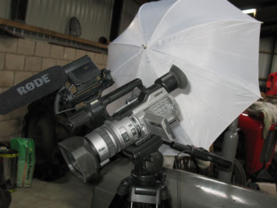 Filming TE 20 tractor hydraulics DVD