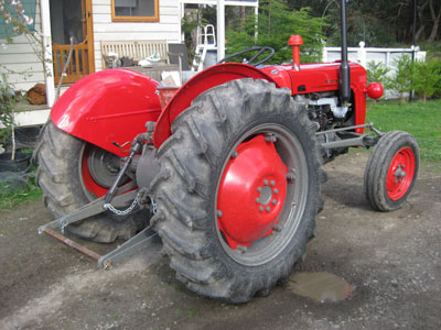 Red and grey Ferguson FE35 tractor