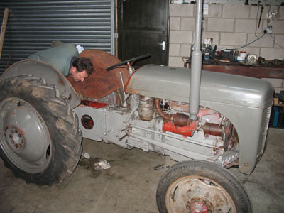 Ferguson TE 20, top cover removed