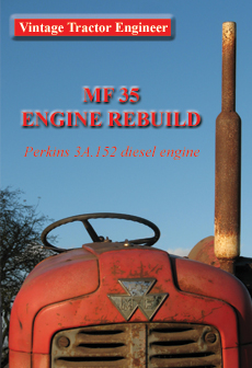 MF35 3 cylinder Perkins Engine Rebuild DVD