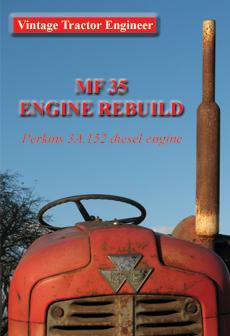 MF35 3 cylinder Perkins Engine Rebuild DVD