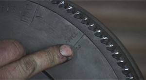 TDC and spill timing marks on the flywheel