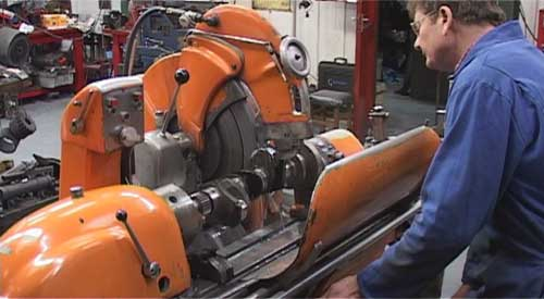 Grinding a crankshaft