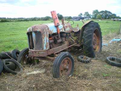 Fordson Major tractor in need of restoration