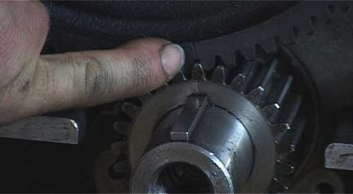 Aligning timing marks on timing gears