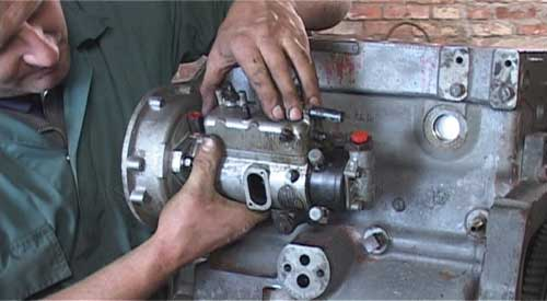 Setting fuel injection pump