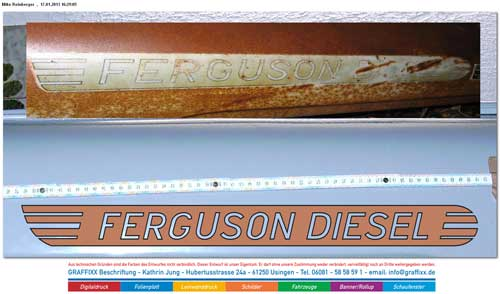 New and old Ferguson Diesel stickers