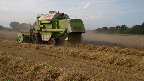 Claas 106 combine harvester cutting wheat