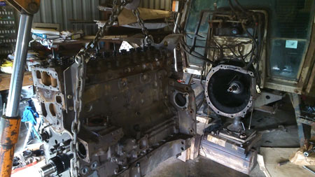 Removing Massey Ferguson 3080 Engine