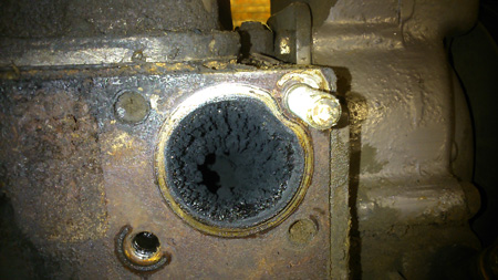 blocked intake port