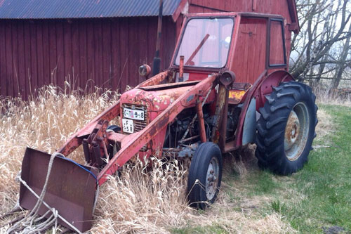 Ferguson FE35 tractor, painted red and grey