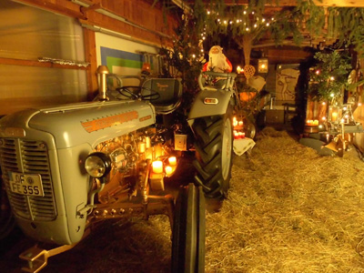 Tractor used for Christmas