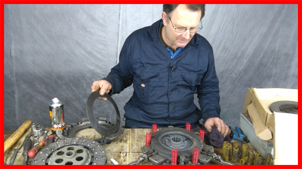 Stripping the clutch on MF135 tractor