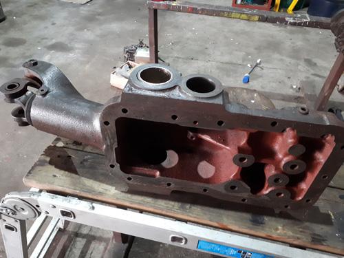Massey Ferguson 230 or 240 hydraulic top cover, undergoing refurbishment