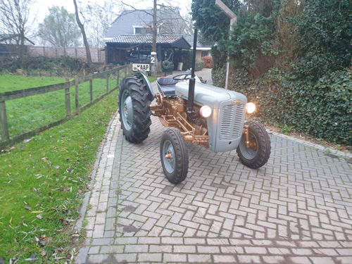 Fully restored Ferguson FE 35 gold and grey tractor